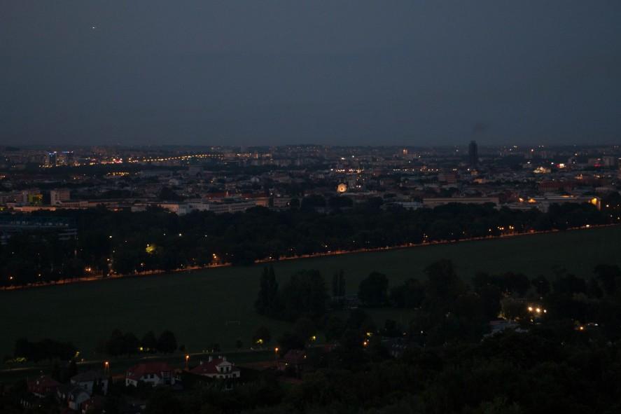 Вид на ночной Краков