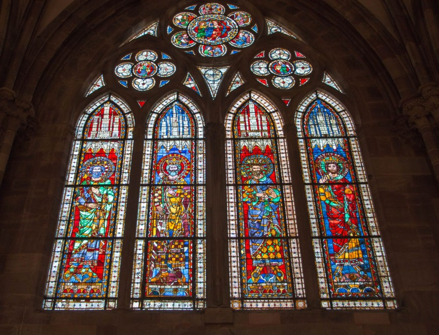Витражи Страсбургского собора