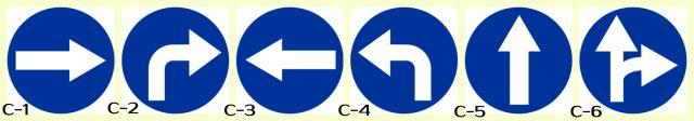 C-1, C-2, C-3, C-4, C-5, C-6