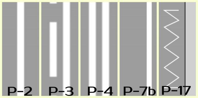 P-2,P-3,P-4,P-7b,P-17